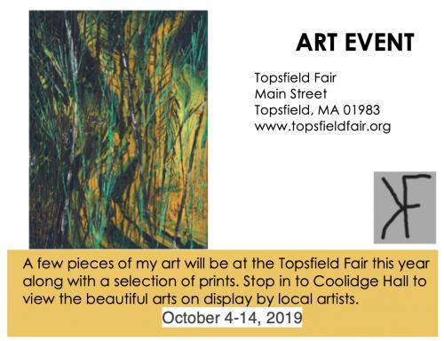 Art Show Art Event - Topsfield Fair Art show for Karen Fieldstad